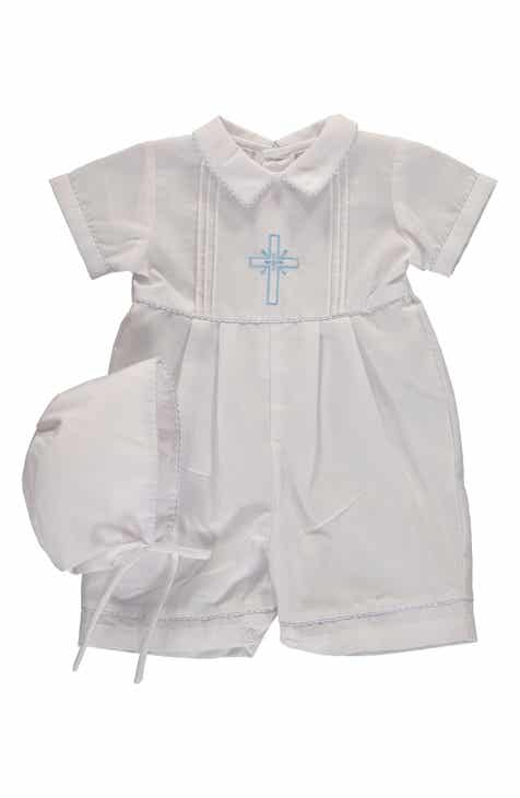 8bd5deece Carriage Boutique Embroidered Christening Romper & Bonnet Set (Baby)