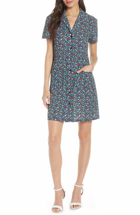 French Connection Eden Floral Print Shirtdress