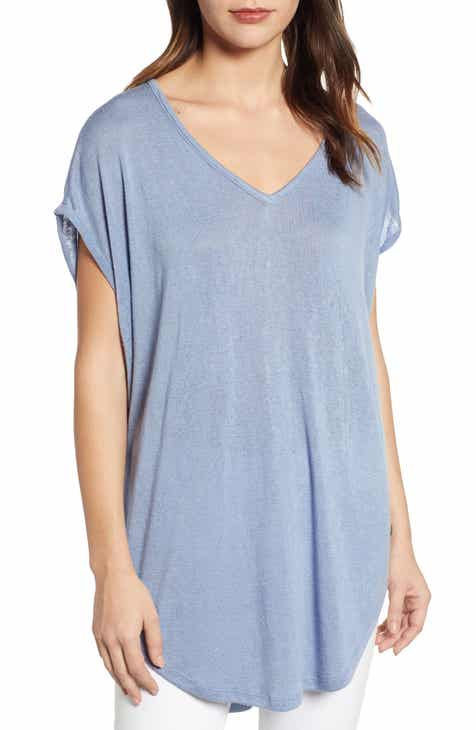 1291b91bf84 Caslon® Short Sleeve Tunic Tee (Regular & Petite)