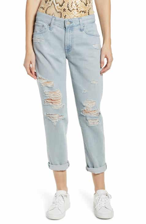 85fc597219c7d AG Ex-Boyfriend Ripped Slouchy Ankle Slim Jeans (25 Years Deep Dust)