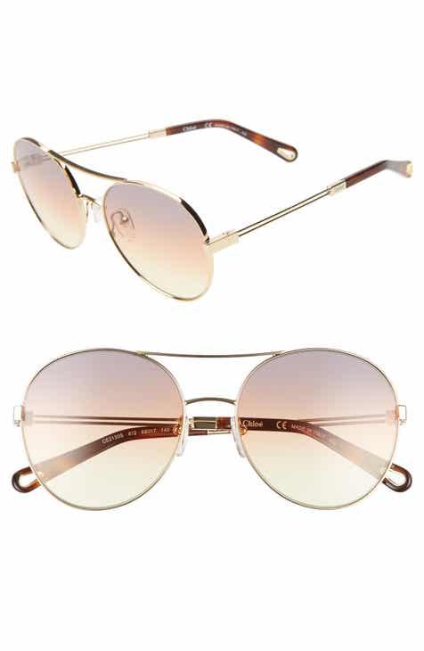 a80568f770ae Chloé Jacky 55mm Gradient Aviator Sunglasses