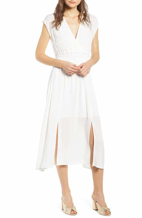 7f09c630a2 WAYF Leanne Double Slit Smocked Midi Dress (Regular & Plus Size)