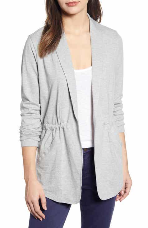 f945fc8615429 Caslon® Cinch Waist Knit Jacket (Regular & Petite)