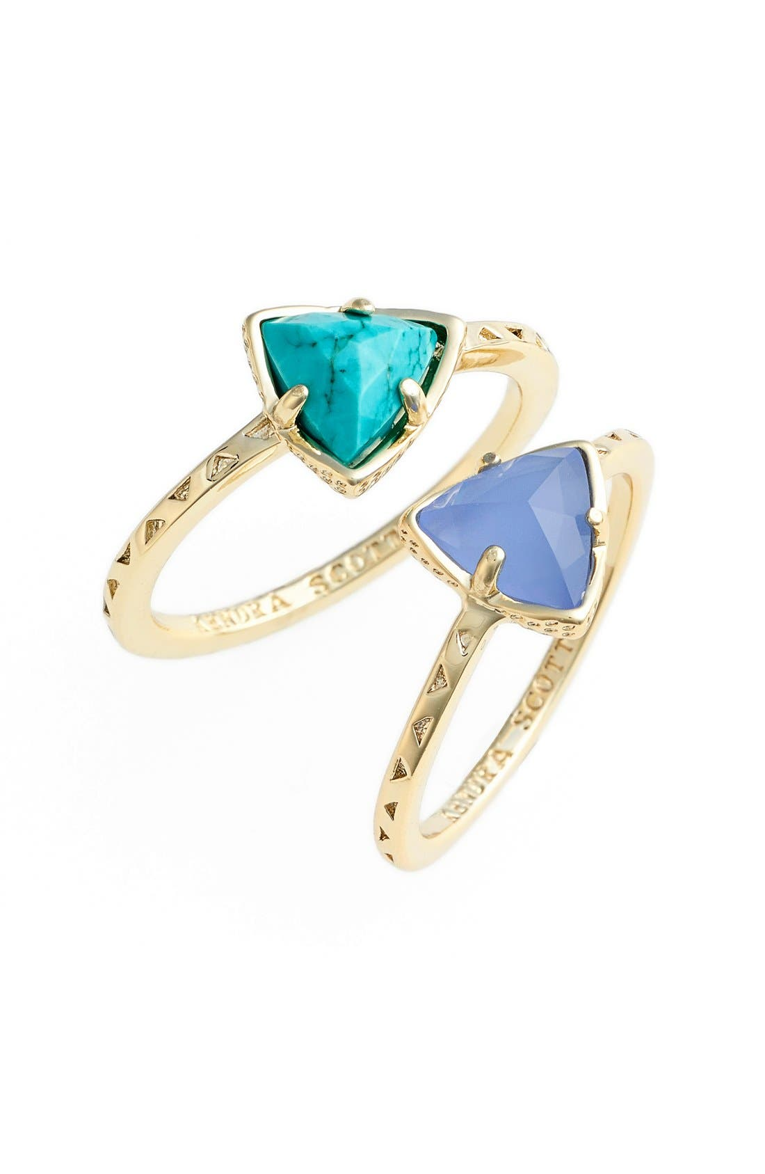 Alternate Image 1 Selected - Kendra Scott 'Anna' Triangle Rings (Set of 2)