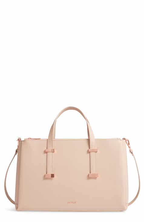 98be99687966d Ted Baker London Juliea Leather Laptop Bag