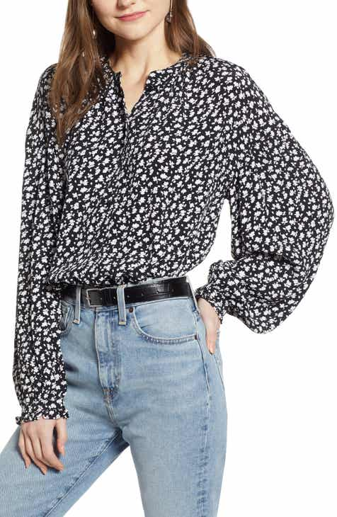 7da7c7d1b13bf Something Navy Easy Volume Top (Nordstrom Exclusive)