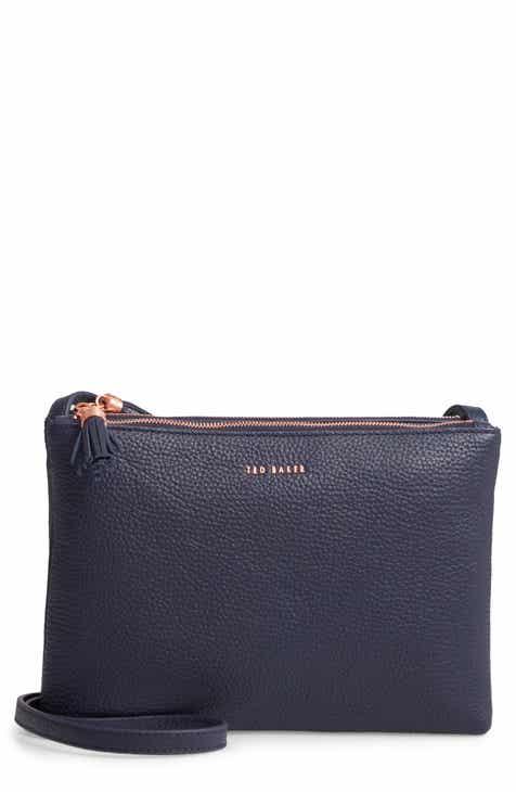 8cb401f3d33bca Ted Baker London Maceyy Double Zip Leather Crossbody Bag