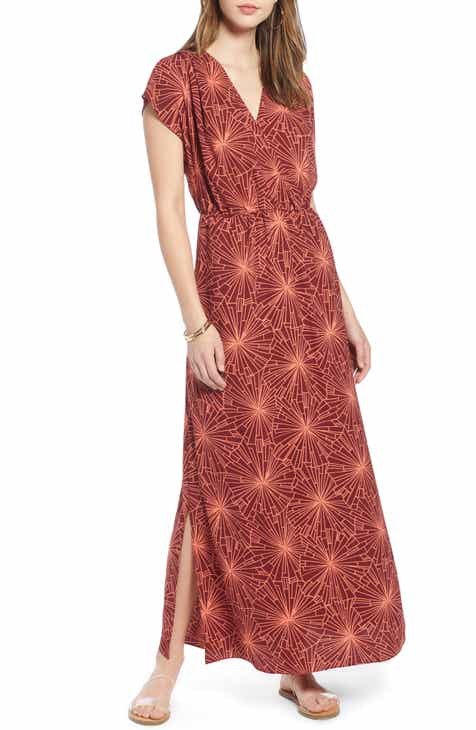 f605a255449 Halogen® V-Neck Maxi Dress (Regular   Petite)