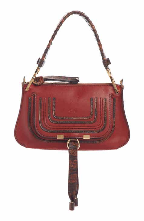 5e5afab24b45 Chloé Mini Marcie Lizard Embossed Leather Satchel