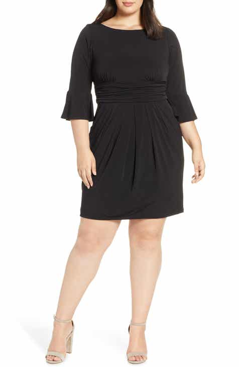 caeb170aed Eliza J Bell Sleeve Sheath Dress (Plus Size)