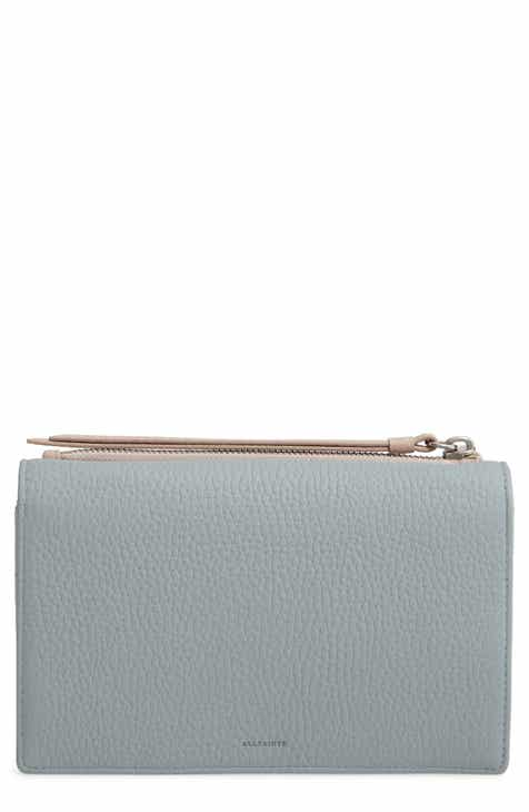 d74cf501a71a ALLSAINTS Fetch Leather Wallet on a Chain