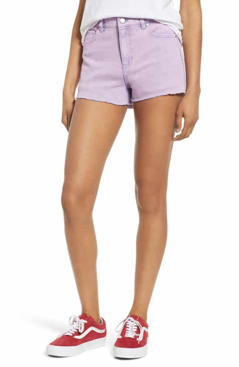 MOTHER The Rascal Slit Flip Denim Shorts (One Smart Cookie) by MOTHER