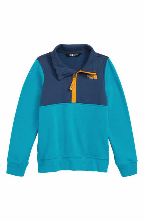 44712557668e The North Face Logo Quarter Zip Pullover (Toddler Boys   Little Boys)