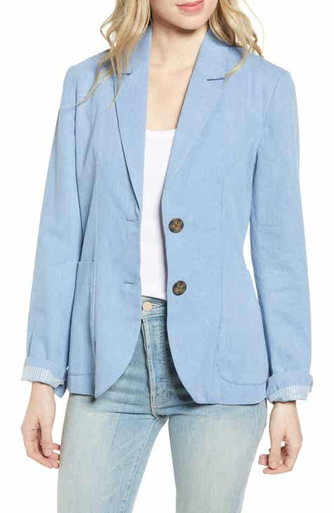 BB Dakota Feel It In The Rain Denim Blazer by BB DAKOTA