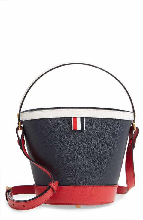 63e1d95266 Thom Browne Sand Pebble Leather Bucket Bag