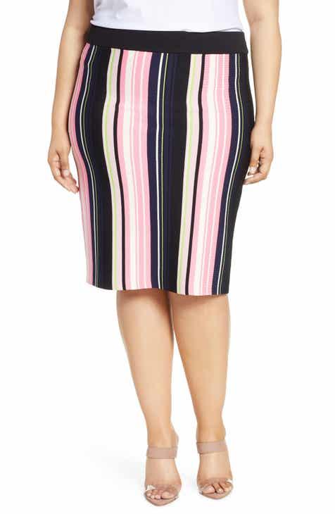644e48b137 Rachel Roy Olivia Stripe Knit Skirt (Plus Size)