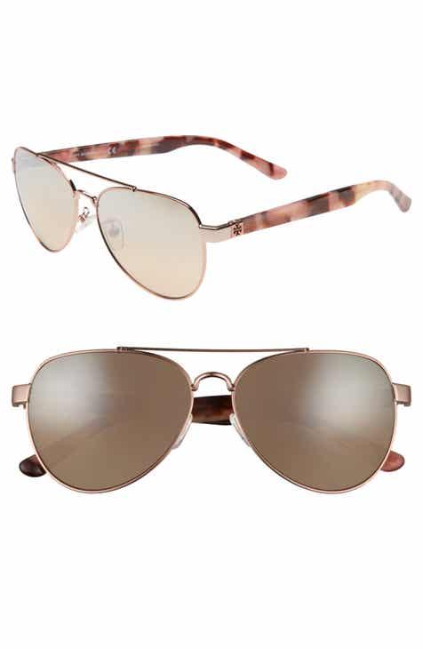 e0dd938882 Tory Burch 57mm Aviator Sunglasses