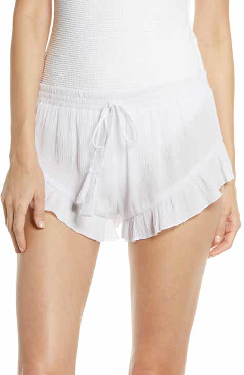 Something Navy Flounce Cover-Up Shorts (Nordstrom Exclusive) by SOMETHING NAVY