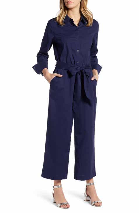 6692fad8e50 1901 Long Sleeve Poplin Jumpsuit (Regular   Petite).  89.00. Product Image