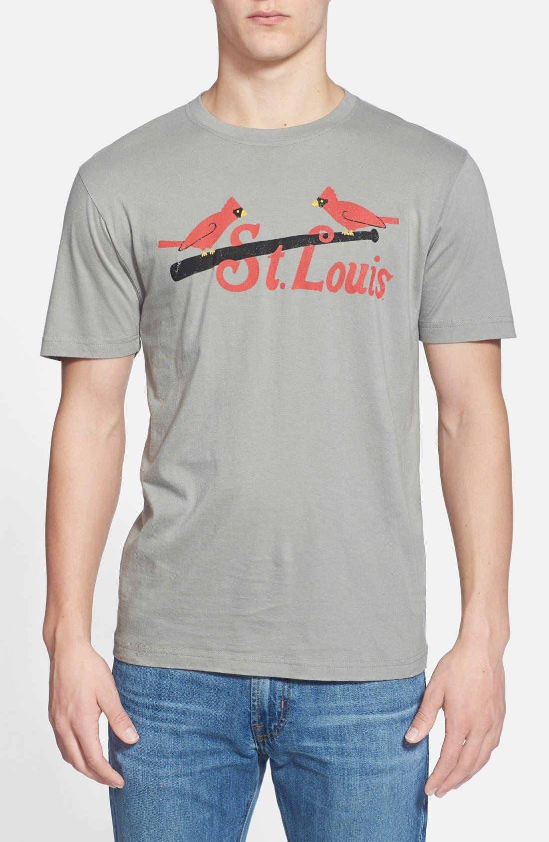 'St. Louis Cardinals - Brass Tacks' T-Shirt,                             Main thumbnail 1, color,                             Grey