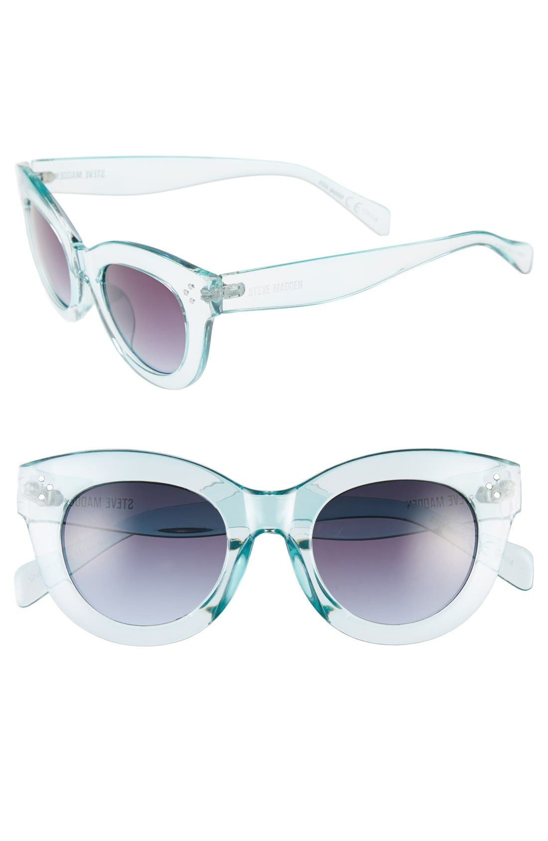 Main Image - Steve Madden 49mm Translucent Cat Eye Sunglasses