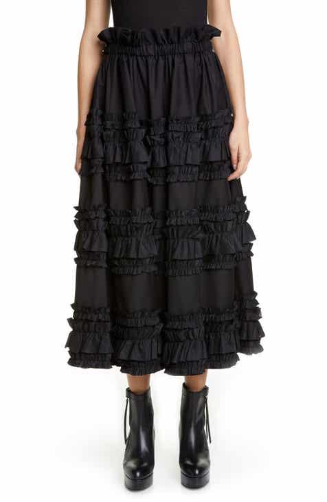 a386839950d11 noir kei ninomiya Horizontal Ruffle Twill Midi Skirt.  905.00. Product Image