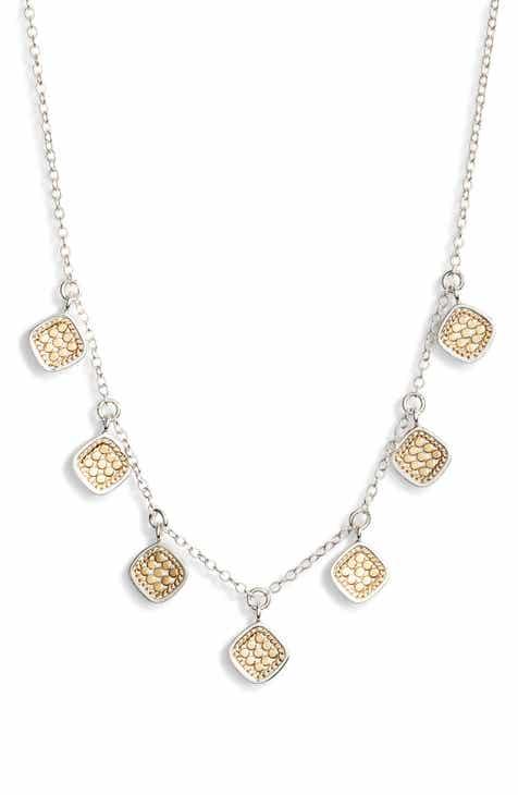 a90cf7342 Anna Beck Cushion Charm Collar Necklace