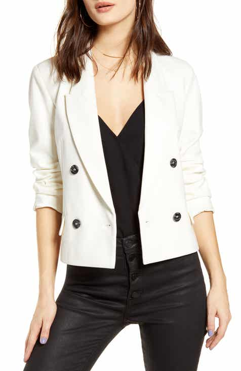 BLANKNYC Crop Ponte Blazer By BLANKNYC by BLANKNYC Wonderful