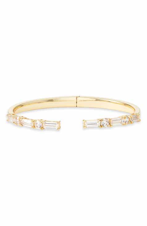 61f34941548 Nordstrom Cubic Zirconia Baguette Stone Cuff Bracelet