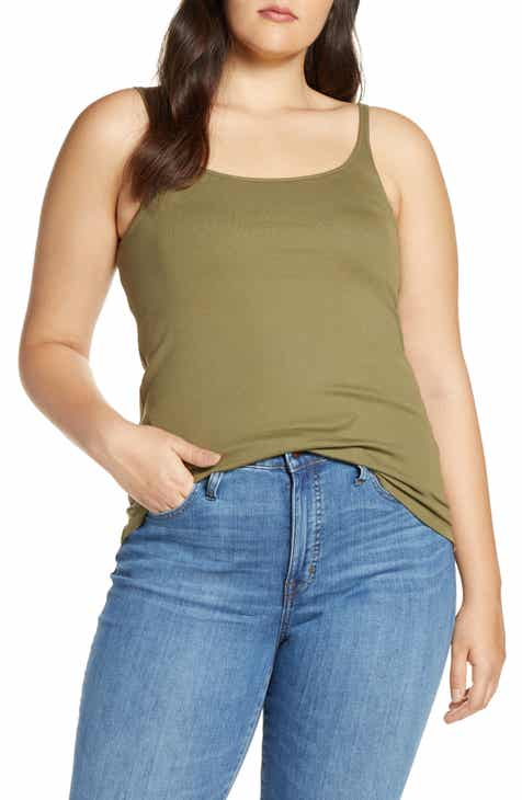 68ebf1122c552 J.Crew Slim Perfect Fit Tank with Built-In Bra (Regular   Plus Size)