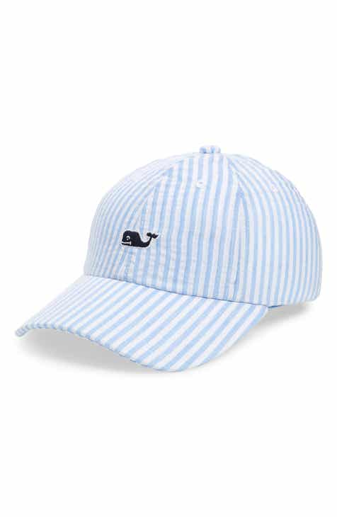 b834f7cac65 vineyard vines Stripe Whale Baseball Cap (Kids)