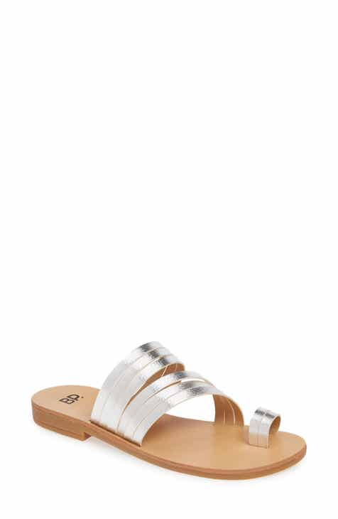 d0eb8f7d800 Liv Flat Slide Sandal (Women).  39.95. Product Image. COGNAC SMOOTH FAUX  LEATHER