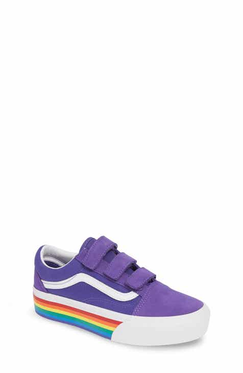 7fa7d60f59bc9f Vans Old Skool V Rainbow Platform Sneaker (Big Kid)