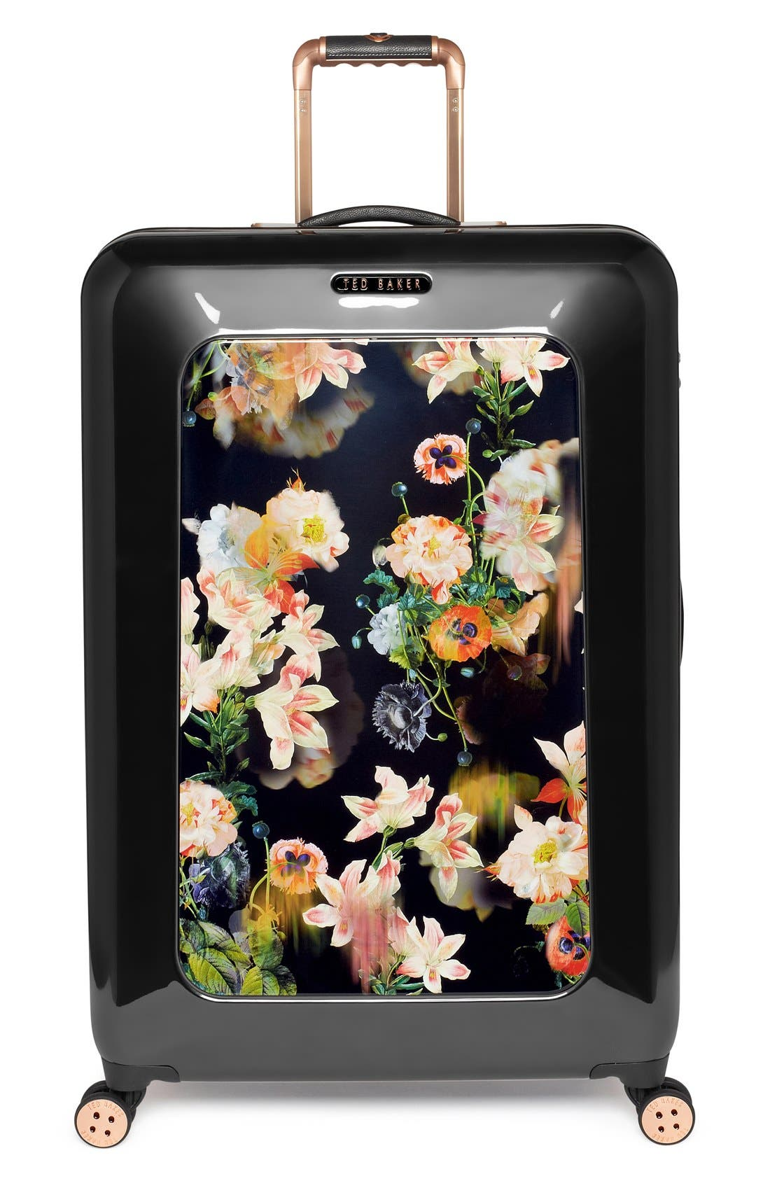 Main Image - Ted Baker London 'Large Opulent Blooms' Hard Shell Suitcase (32 Inch)