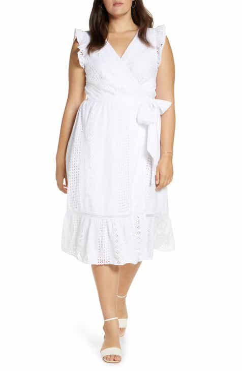 14737f89331 J.Crew All Over Eyelet Wrap Midi Dress (Regular   Petite)