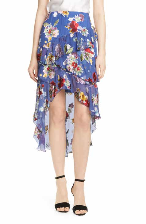 cfcb7131e7 Alice + Olivia Mariel High/Low Chiffon Skirt