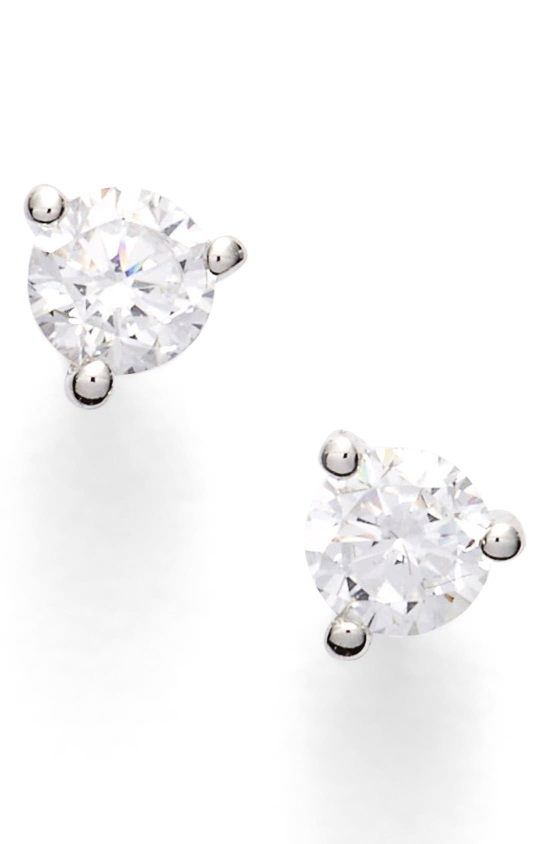 Alternate Image 1 Selected - Nordstrom Precious Metal Plated 0.25ct tw Cubic Zirconia Stud Earrings