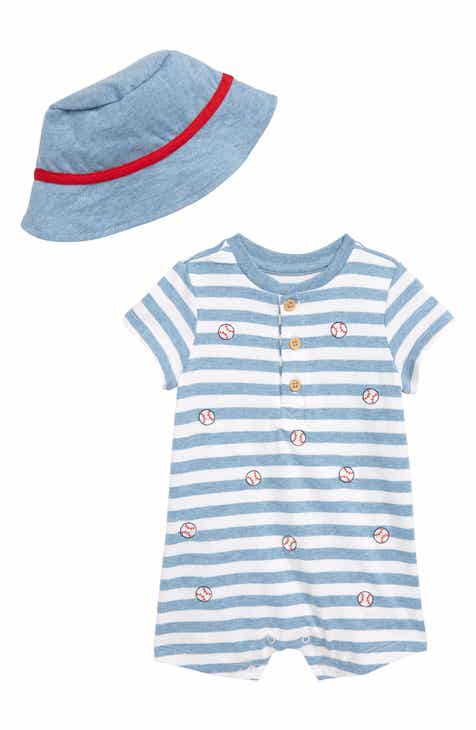 0a665e40ddd Little Me Baseball Romper   Hat Set (Baby)
