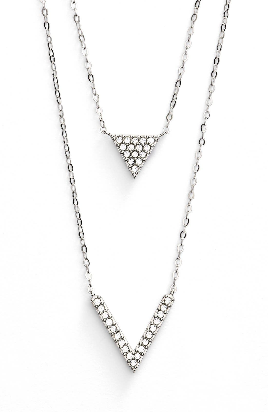 Alternate Image 1 Selected - Nadri Double Pendant Necklace