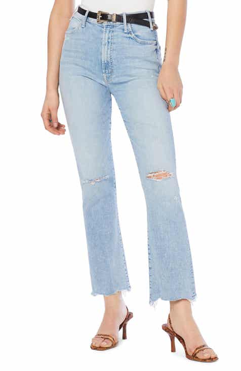 598e8a2f7900 MOTHER The Hustler High Waist Ripped Chew Hem Ankle Jeans (Drinking by the  Pool)