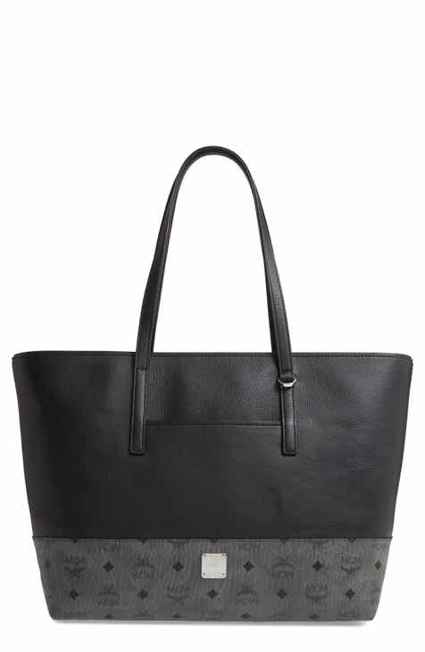 MCM Wilder Visetos Faux Leather Shopper