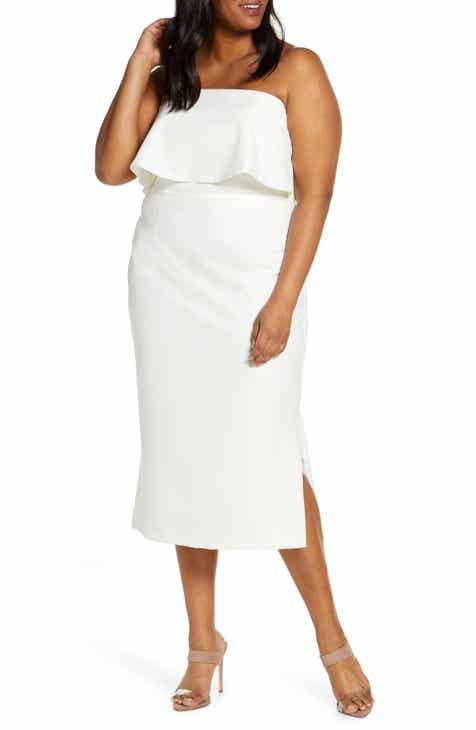 01ed4e1bb ELOQUII Strapless Party Dress (Plus Size)