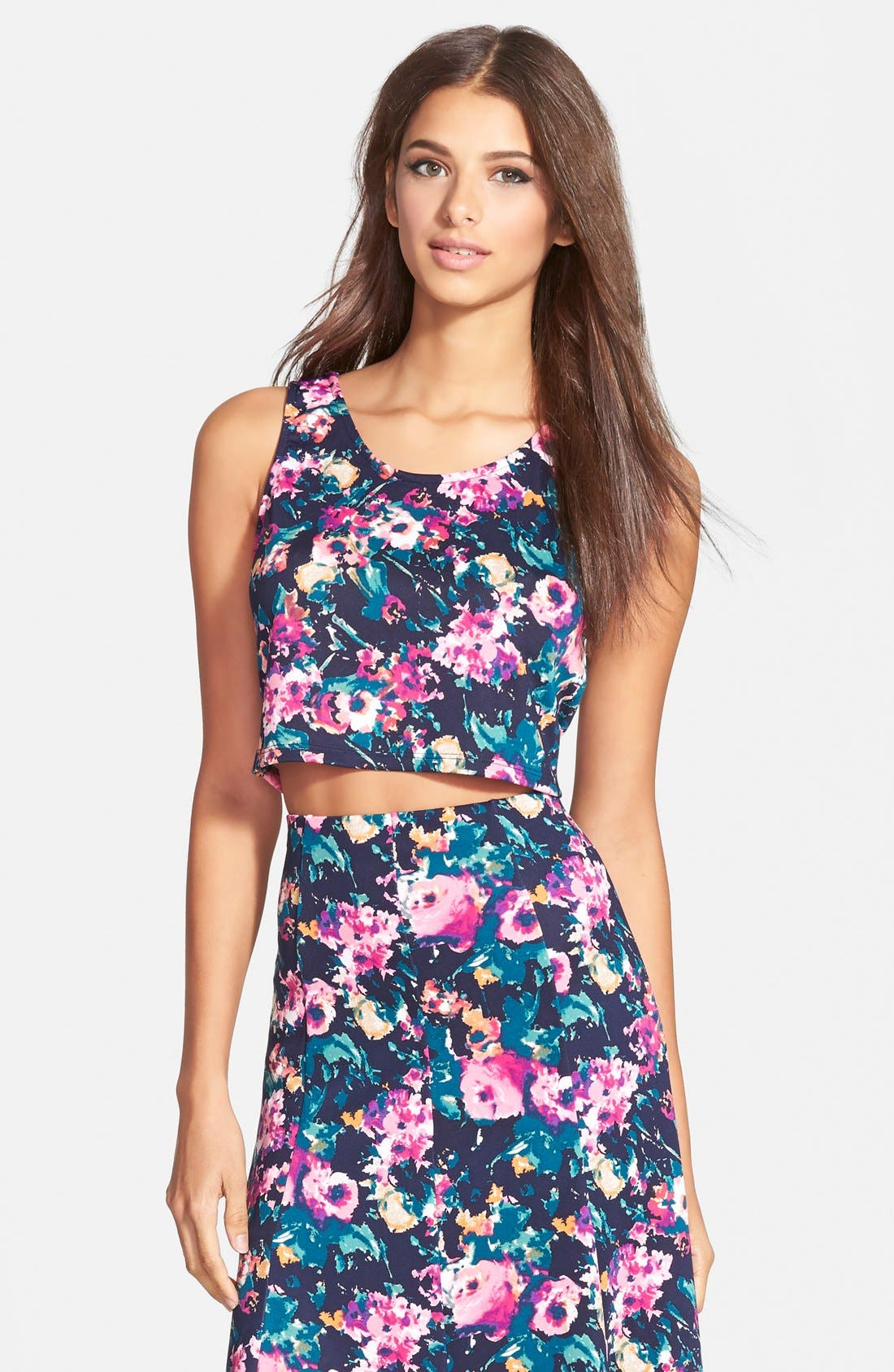 Alternate Image 1 Selected - Leith Tropical Print Sleeveless Top