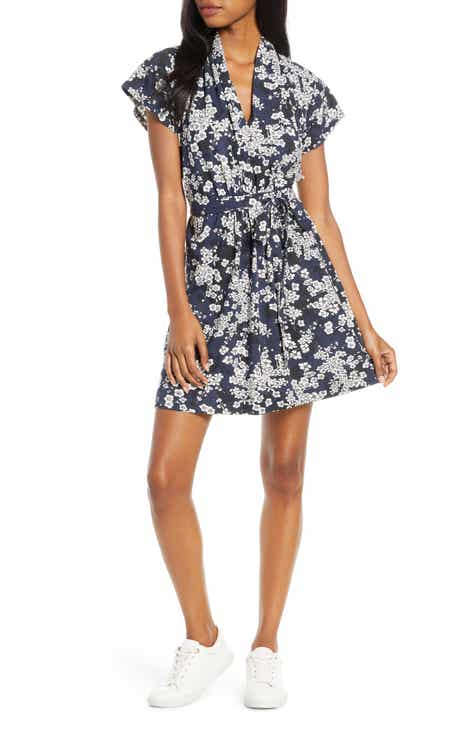 Anne Klein Seersucker Fit & Flare Dress by ANNE KLEIN