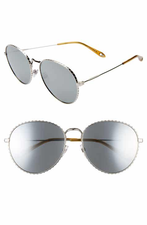 9ca4bee790 Givenchy 60mm Round Metal Sunglasses