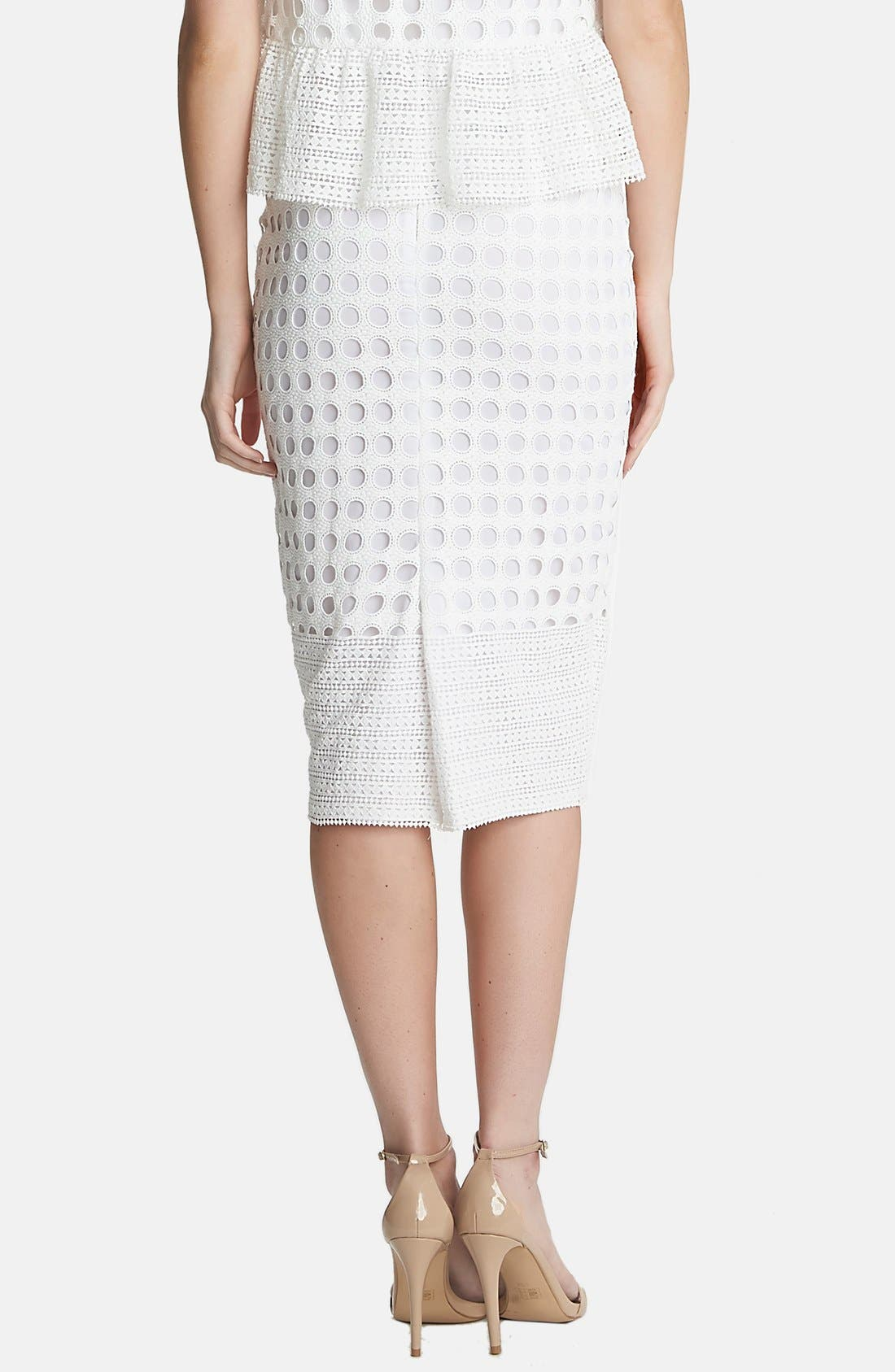 Alternate Image 4  - 1.STATE Geo Lace Midi Skirt