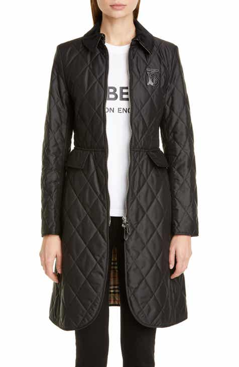 66f16fd7ad Burberry Ongar Monogram Motif Long Quilted Coat