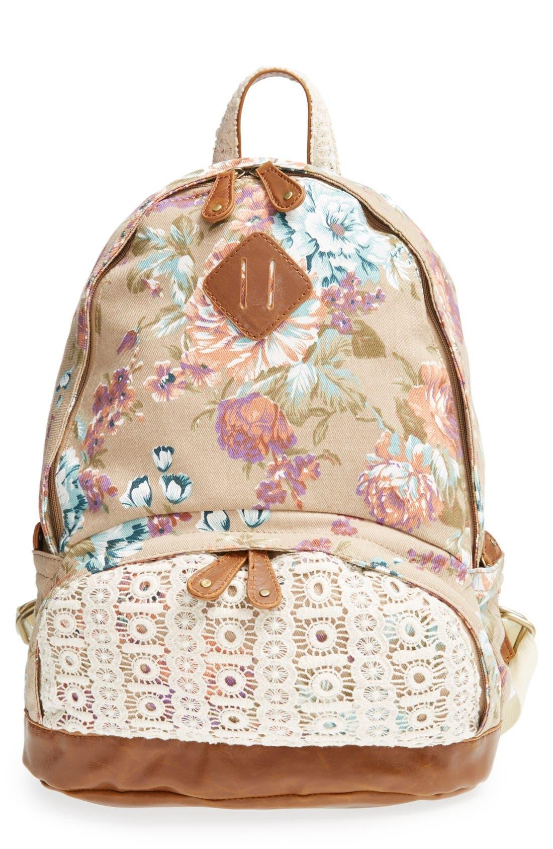 Alternate Image 1 Selected - Nila Anthony Floral Print Backpack
