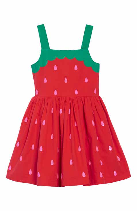 ab6ab1fcc Mini Boden Fun Appliqué Woven Dress (Toddler Girls, Little Girls & Big Girls )
