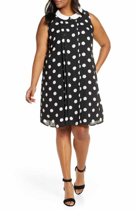 40bf35aab CeCe Dappled Dot Sleeveless Dress (Plus Size)